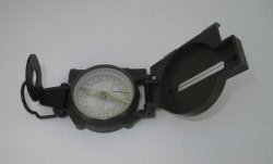 Lensatic Compass, Army Green, Unknown Year