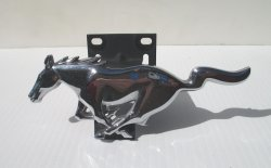 Ford Mustang Running Horse Grille Emblem with Bracket