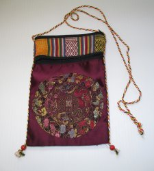 Cross Body Hippie Pouch Shoulder Bag, 2 Sections