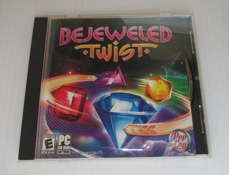 PC Computer game. Windows 7, Vista. Like the original Bejeweled game but with an added twist of spinning twisting gem stones.