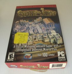 Stone Jong, Mahjong Solitaire PC Computer Game, 100 Levels