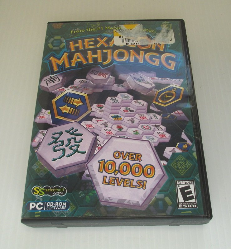 Hexagon Mahjong Mahjongg PC computer puzzle game with over 10,000 levels. 5 game modes, power bonuses. Windows 7, Vista, XP.