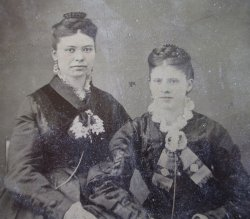 '.Antique Photos, Cowles Ladies.'