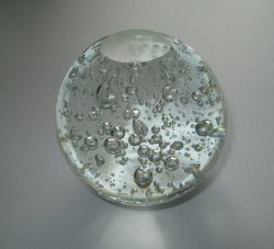 '.Clear Glass Sphere w Bubbles.'