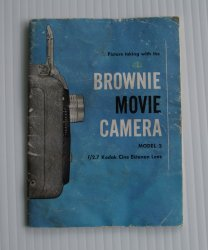 Brownie Model 2 Movie Camera Manual Dated 1956