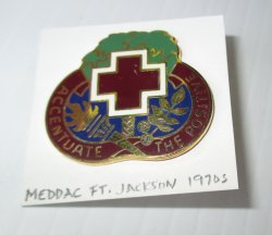 1 MEDDAC, Ft. Jackson South Carolina U.S. Army Insignia Pin