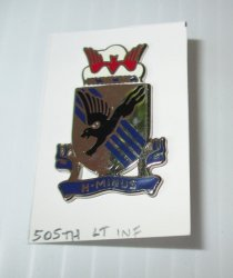 '.505th Army Light Infantry.'