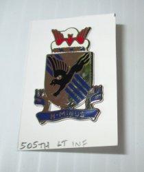505th Light Infantry, U.S. Army DUI DI Insignia Pin, H-Minus