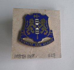 108th U.S. Army Infantry Insignia Pin, Virtute Non Verbis