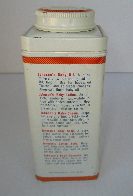 johnson u0026 39 s baby powder  vintage 9 oz tin  never opened