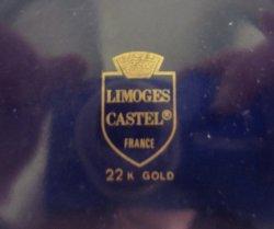 '.Limoges Castel Dish, 22k trim.'