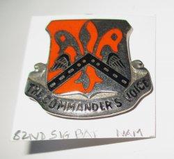 82nd Airborne Signal Battalion Insignia Pin, Vietnam Era