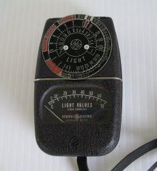 '.General Electric light meter.'