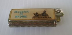 Madrid Spain Souvenir Recuerdo de Madrid Bic Lighter Holder