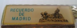 '.Madrid Spain Bic Lighter holde.'