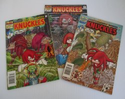 Knuckles Sonic Archie Adventure Series Lot of 3 Comic Books