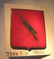 73rd Field Artillery Regiment Insignia Pin, U.S. Army 1960s