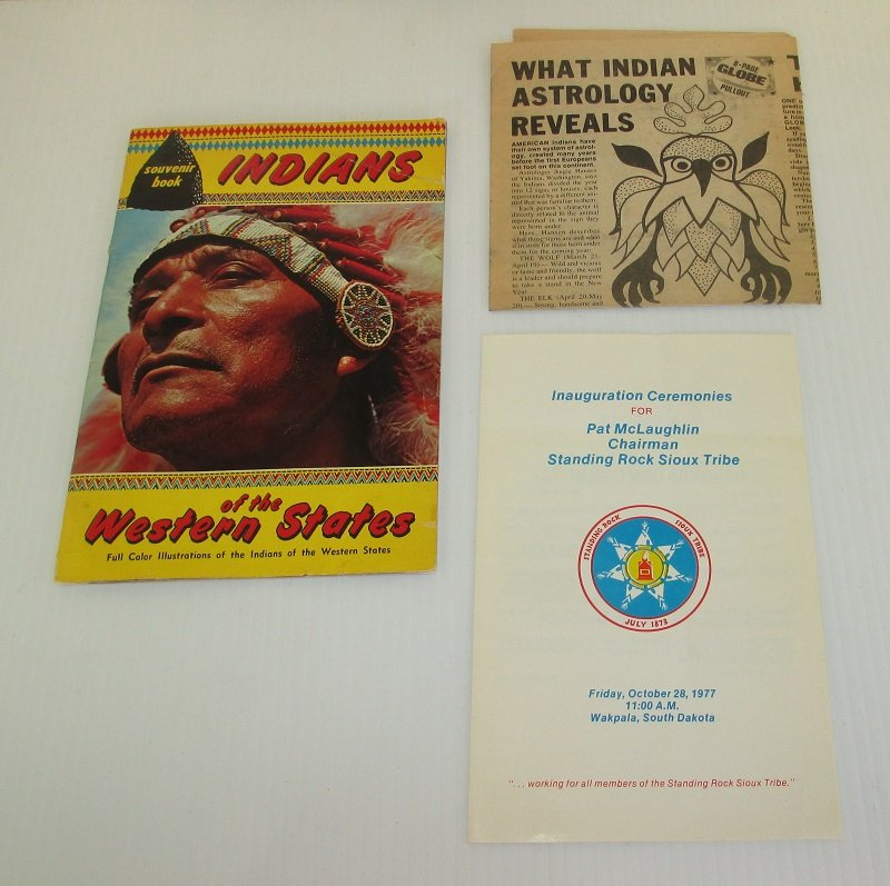 Indians of the Western States. Kiowa, Navajo, Apache, Sioux, Acoma, Hopi, etc. Plus a program from Standing Rock Sioux Tribe dated 1977.