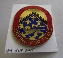 44th Support Battalion U.S. Army DUI Insignia Pin