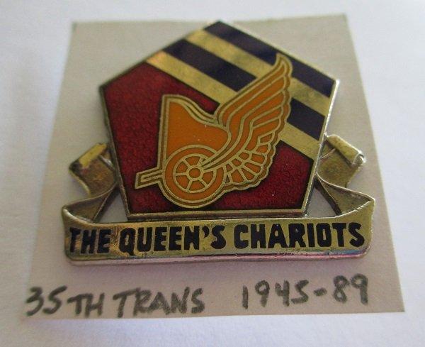 35th U.S. Transportation Battalion insignia metal pin.