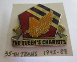 35th Transportation Battalion, U.S. Army, DUI Pin