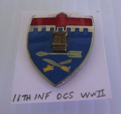 11th U.S. Army Infantry Regiment, WWII OCS DUI Insignia Pin