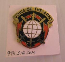 9th U.S. Army Signal Command DI Insignia Pin