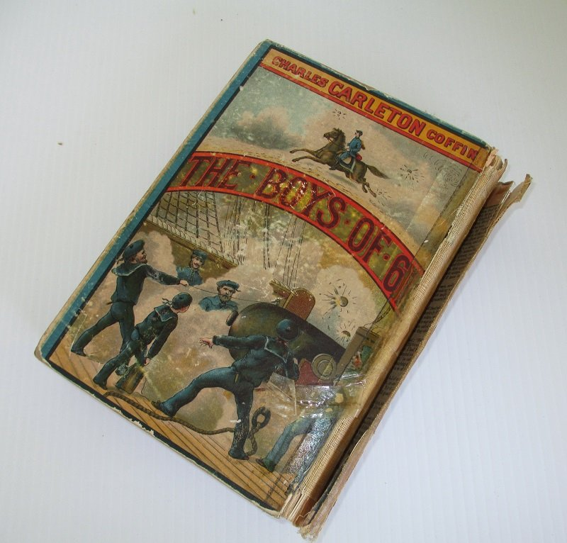 Back cover of The Boys of 61, or Four Years of Fighting. First battle of Bull Run to the fall of Richmond. Dated 1886. Highly illustrated.