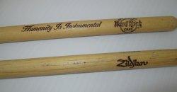 '.Hard Rock Cafe Drum sticks.'