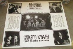 Beatles Last Concert Poster, Candlestick Pk San Fran 25 Anni