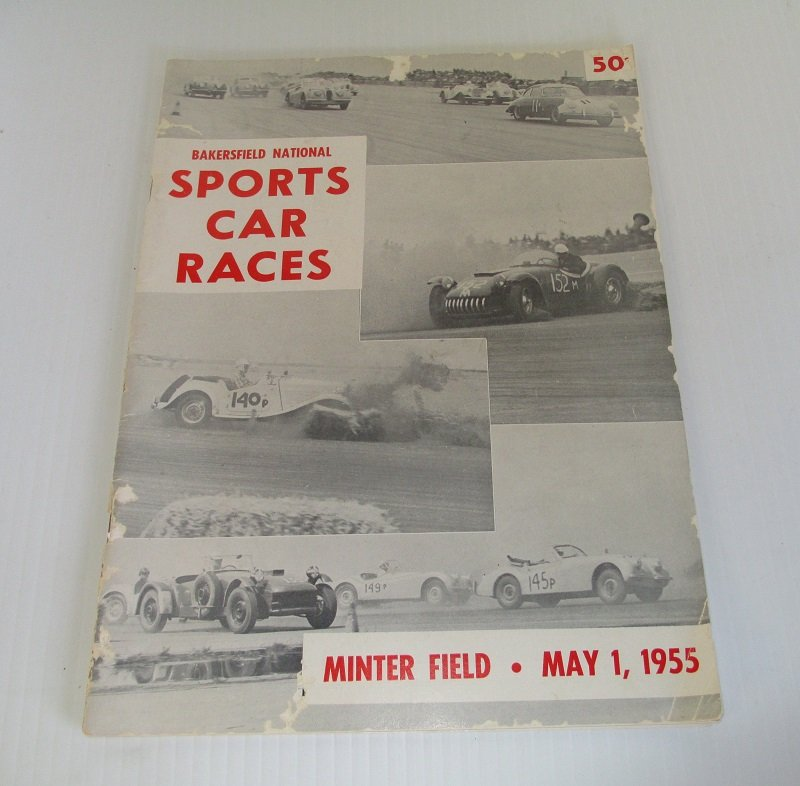 Bakersfield car races program may 1 1955 james dean listed for Craft stores bakersfield ca