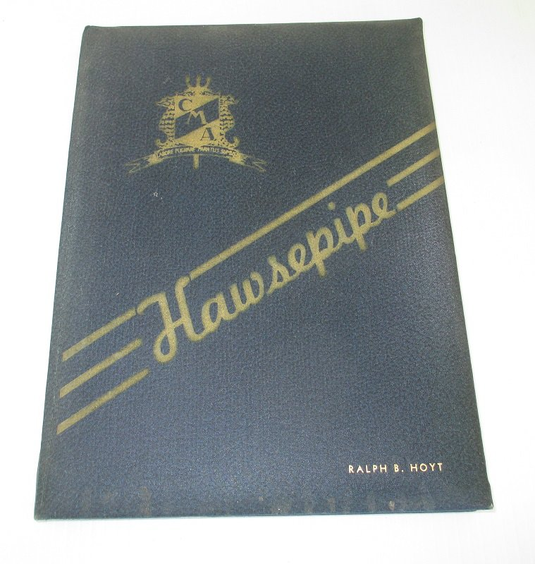 California Maritime Academy 1944 Hawsepipe yearbook. Training ship was The Golden State. The CMA was located in Vallejo California.