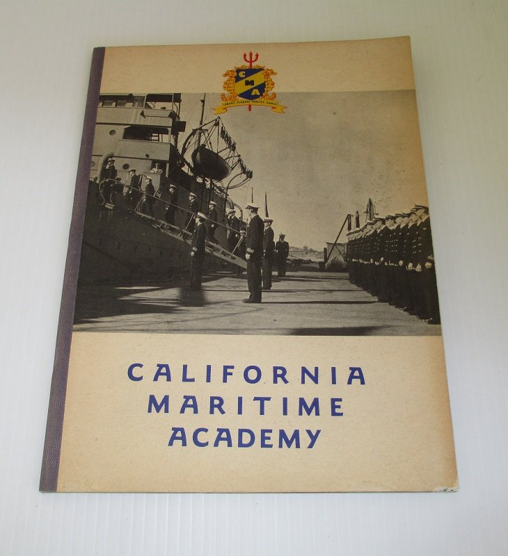 1940s Informational Brochure from the California Maritime Academy in Vallejo California. Details curriculum, courses, ships, activities, etc.