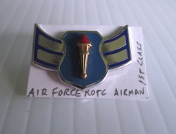 1 Air Force ROTC Airman 1st Class Rank Pin