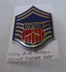 1 Civil Air Patrol Senior Master Sargent Rank Pin