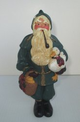 Lenox Country Santa with Duck Wall Hanging or Statue, 1996