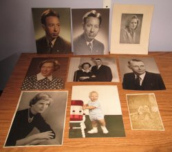 Daves family of Peoria Illinois area, 9 photos, 1940s