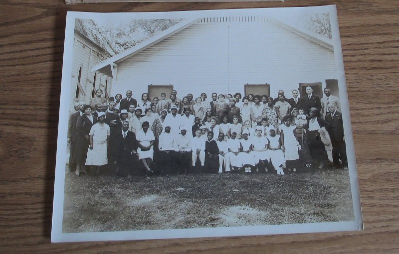 Black Church Congregation 1930s Possibly Woodland California