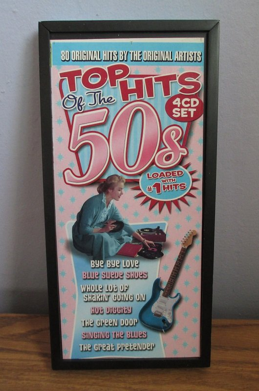 Boxed set of 80 original hits from the 1950s by the original artists on 4 CDs. One CD for each year of 1956, 1957, 1958, and 1959.