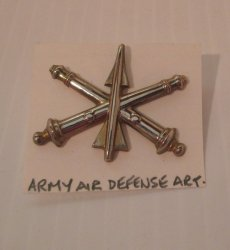 1 Air Defense Artillery Officer Badge, U.S. Army