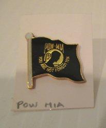 1 POW MIA You Are Not Forgotten Enamel Flag Lapel Pin