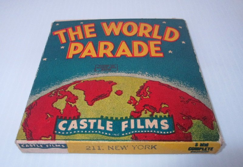 Vintage 1940s movie from Castle Film. From The World Parade series. Titled New York. Film number 211.  8mm in original box.