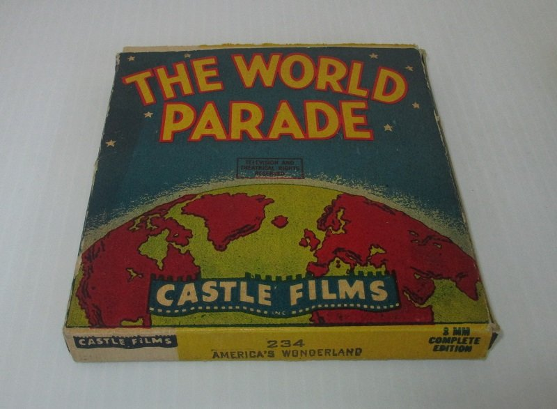 Vintage 1940s movie from Castle Films. From The World Parade series. Titled America's Wonderland. Film number 234.  8mm in original box.