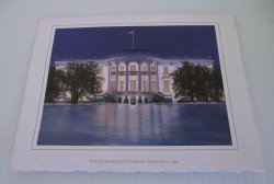 White House Christmas Card, Bill Hillary Clinton, 1997