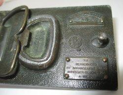 '.Budweiser Belt Buckle 1970s.'