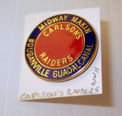 1 Carlson's Raiders WWII Midway Makin Bouganville Guadalcanal Pin