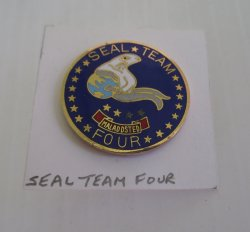 1 Seal Team Four Special Operations Force Insignia U.S. Navy