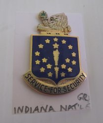 1 Indiana National Guard Insignia Pin