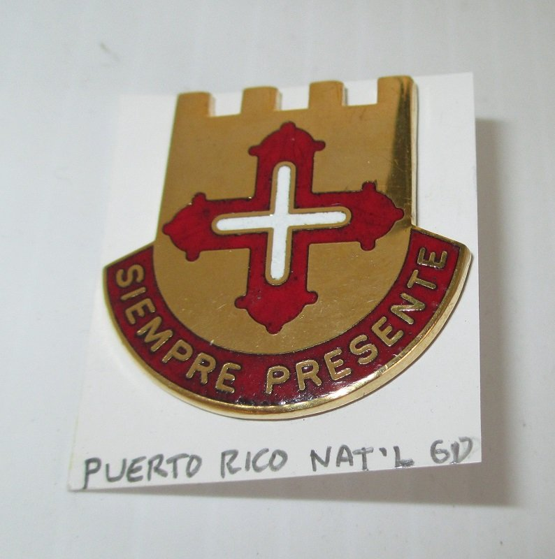 This Puerto Rico National Guard insignia pin has the motto