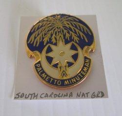 1 South Carolina National Guard Insignia Pin